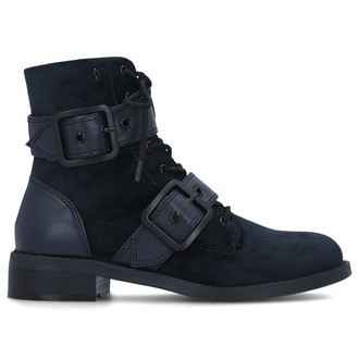 Ženske čizme Armani Exchange LEATHER BOOT
