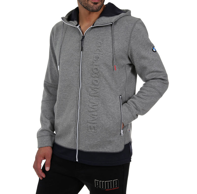 Muški duks Puma BMW MSP HOODED MIDLAYER