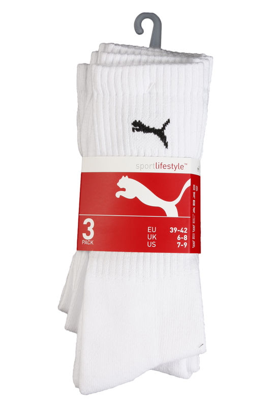 Čarape Puma SPORT 3-PACK WHITE