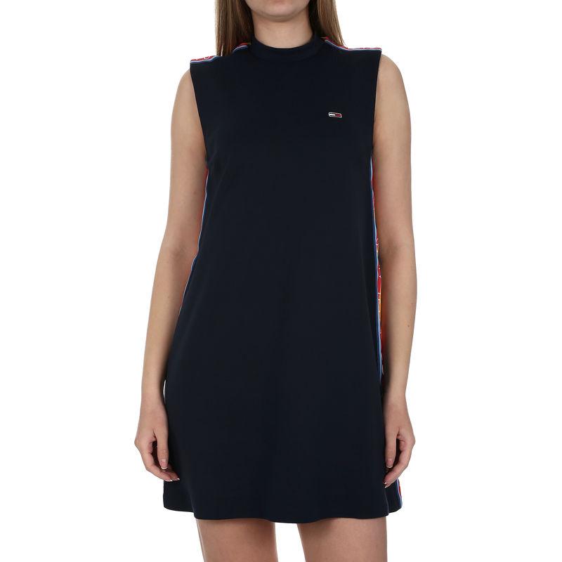 Ženska haljina Tommy Hilfiger TJW A-LINE SOLID TAP