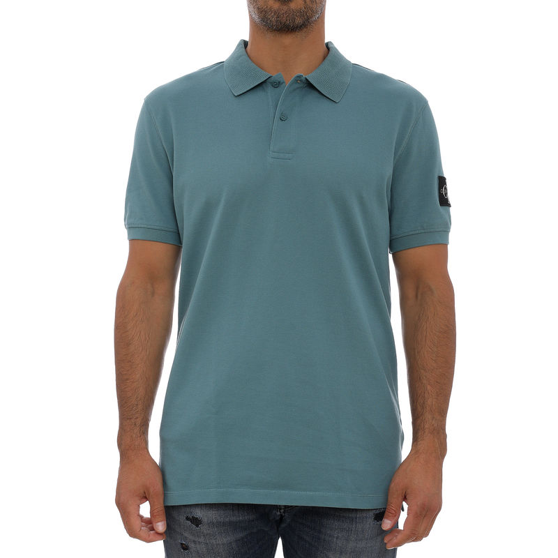 Muška majica Calvin Klein MONOGRAM BADGE POLO