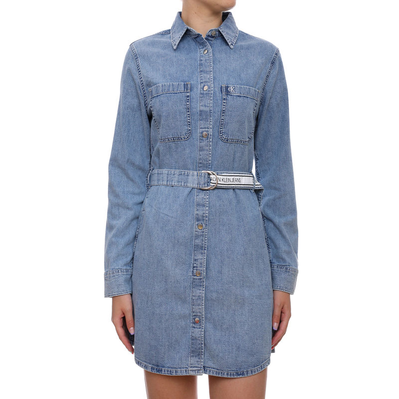 Ženska haljina Calvin Klein RELAXED SHIRT DRESS BELT