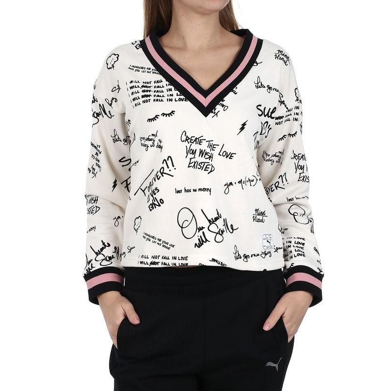 Ženski duks Puma x SUE TSAI AOP V-neck Sweater