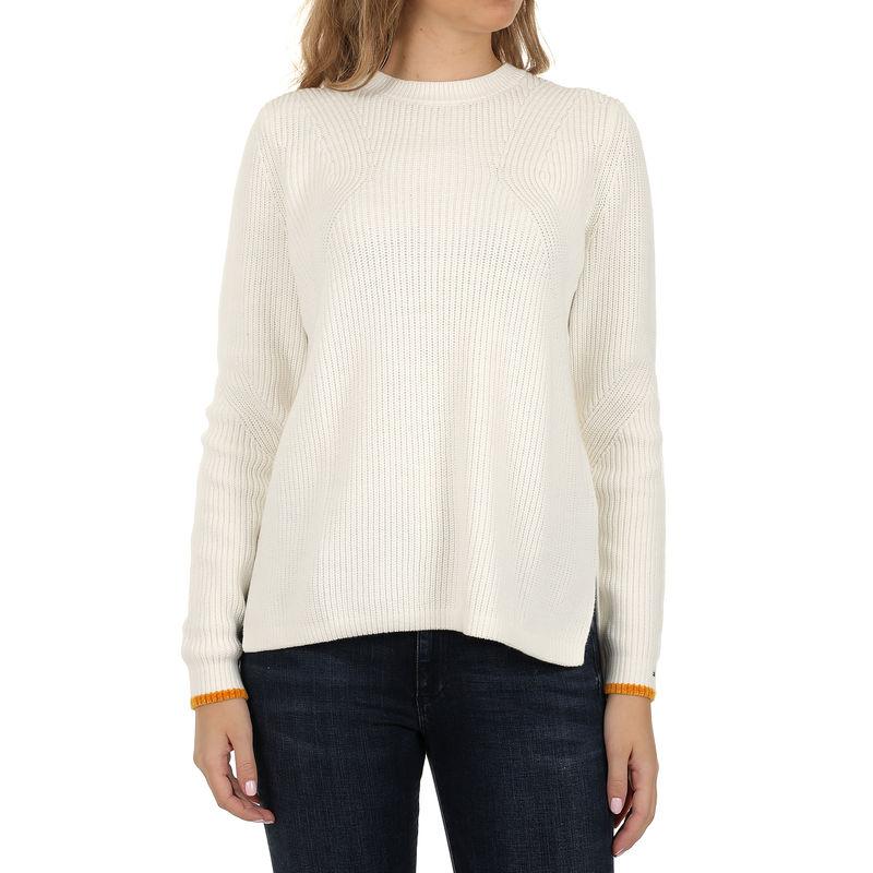 Ženski džemper Tommy Hilfiger TJW SIDE SLIT CREW SWEATER