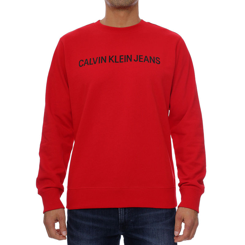 Muški duks Calvin Klein INSTITUTIONAL LOGO REG CREW NECK