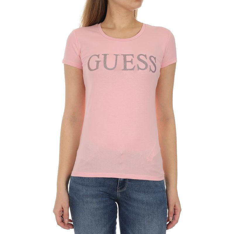 Ženska majica Guess SS RN CRYSTAL TEE