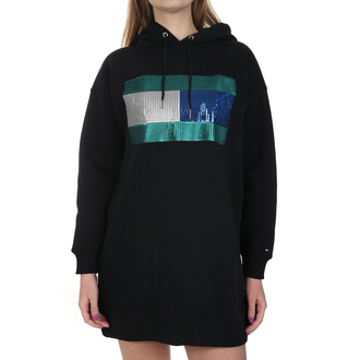 Ženska haljina Tommy Hilfiger HANNA HOODED DRESS