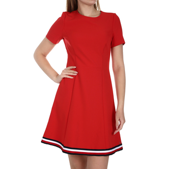 Ženska haljina Tommy Hilfiger ANGELA GLOBAL STP DRESS
