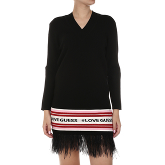 Ženska haljina Guess LS VN SVEVA SWEATER DRESS