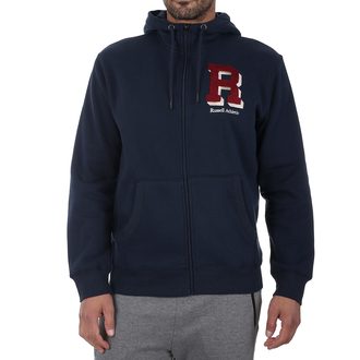 Muški duks Russell Athletic ZIP HOODY CHENILLE EMBROIDERY