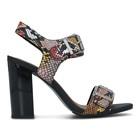 Ženske sandale Tommy Hilfiger SNAKE PRINT HEELED SANDAL