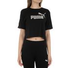 Ženska majica Puma ESS+ Metallic Cropped Tee