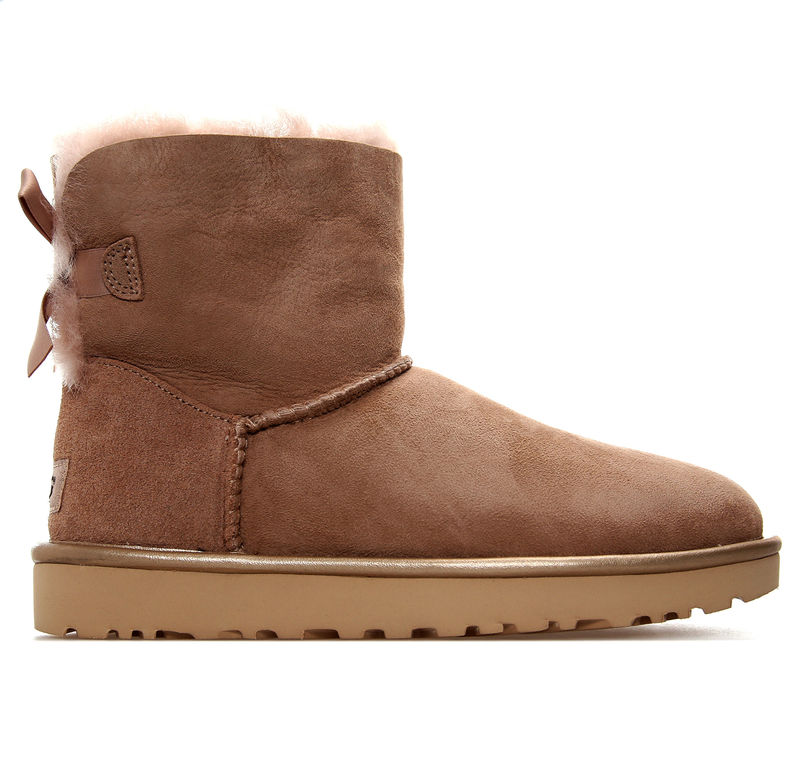 Ženske čizme UGG MINI BAILEY BOW II METALLIC